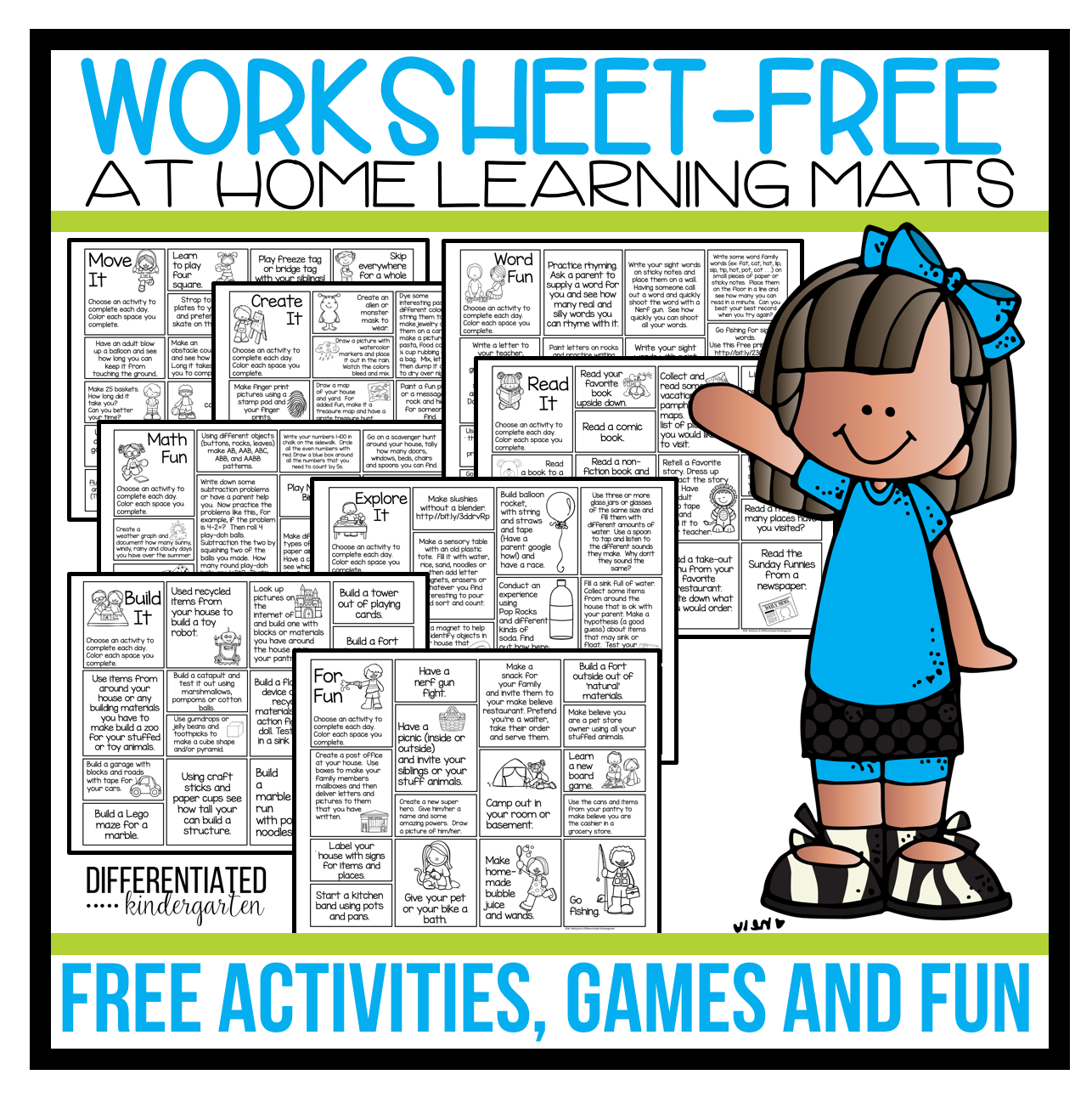 Free Worksheet Free At Home Activities Games And Ideas