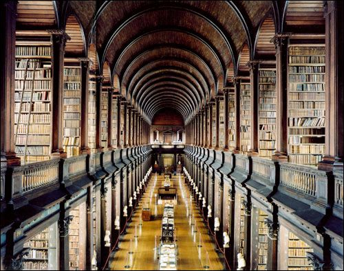 The magic of a library draws you in.