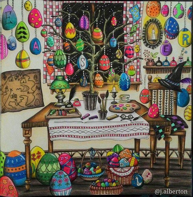 Feliz Páscoa  Happy Easter #eriy #artecomoterapia #divasdasartes #livros_coloridos  #arte_e_colorir #coloringbook #coloring_secrets #romanticcountry #romanticcountrycoloringbook