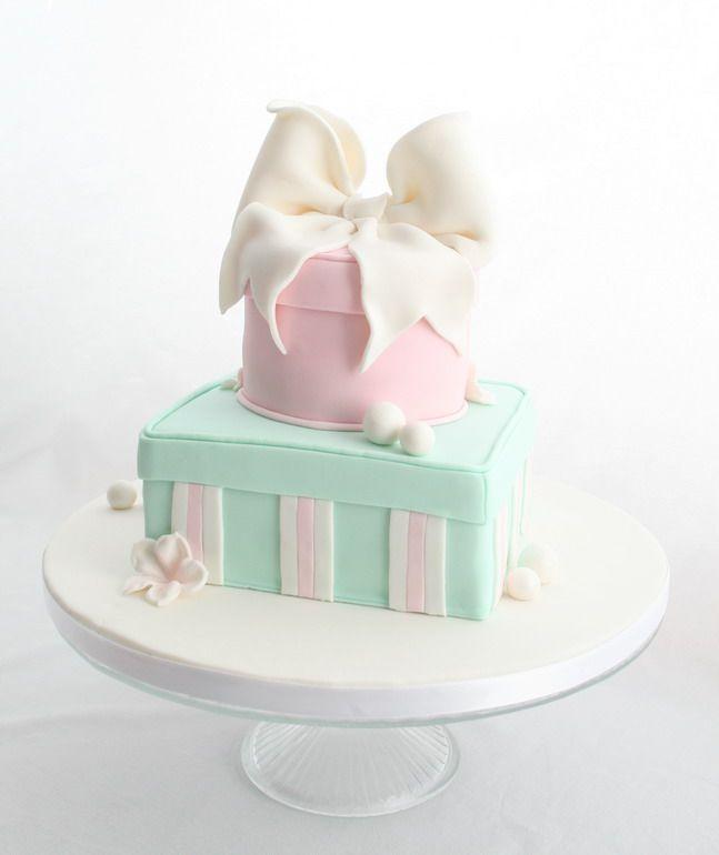 2 tier gift box cake