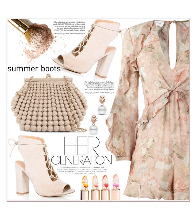 """""""Summer boots"""" by poopsie-plopsie ❤ liked on Polyvore featuring Zimmermann, Escalier, Boohoo and Sondra Roberts"""