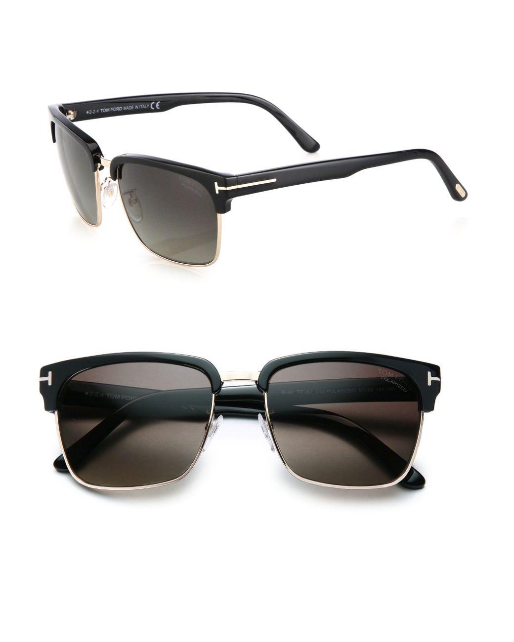 6bf8cf49492a9 Men s River 57mm Square Sunglasses - Black