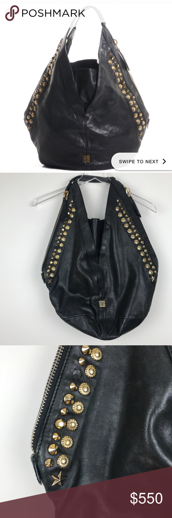 442db6a3cfb8 GIVENCHY tinhan lambskin leather hobo This was purchased secondhand