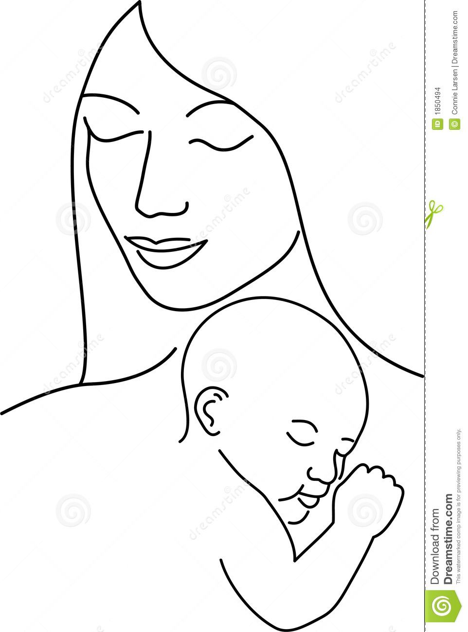 Simple drawing of mother and son simple illustration of a mother holding her baby for the home painting of 20 things to tell your son