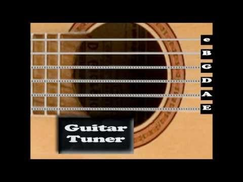 Standard Acoustic Guitar Tuner Interactive Youtube Guitar Tuners Acoustic Guitar Tuner Acoustic Guitar