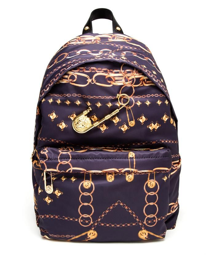 VERSUS | Gold Chain Printed Backpack