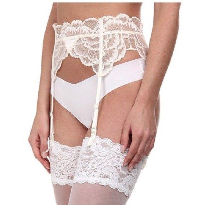 c7036d222ef Calvin Klein NWT QF1141 BLACK LABEL Lace Striking Garter Belt Size M L -  IVORY  CalvinKlein  GarterBelt  Bridal