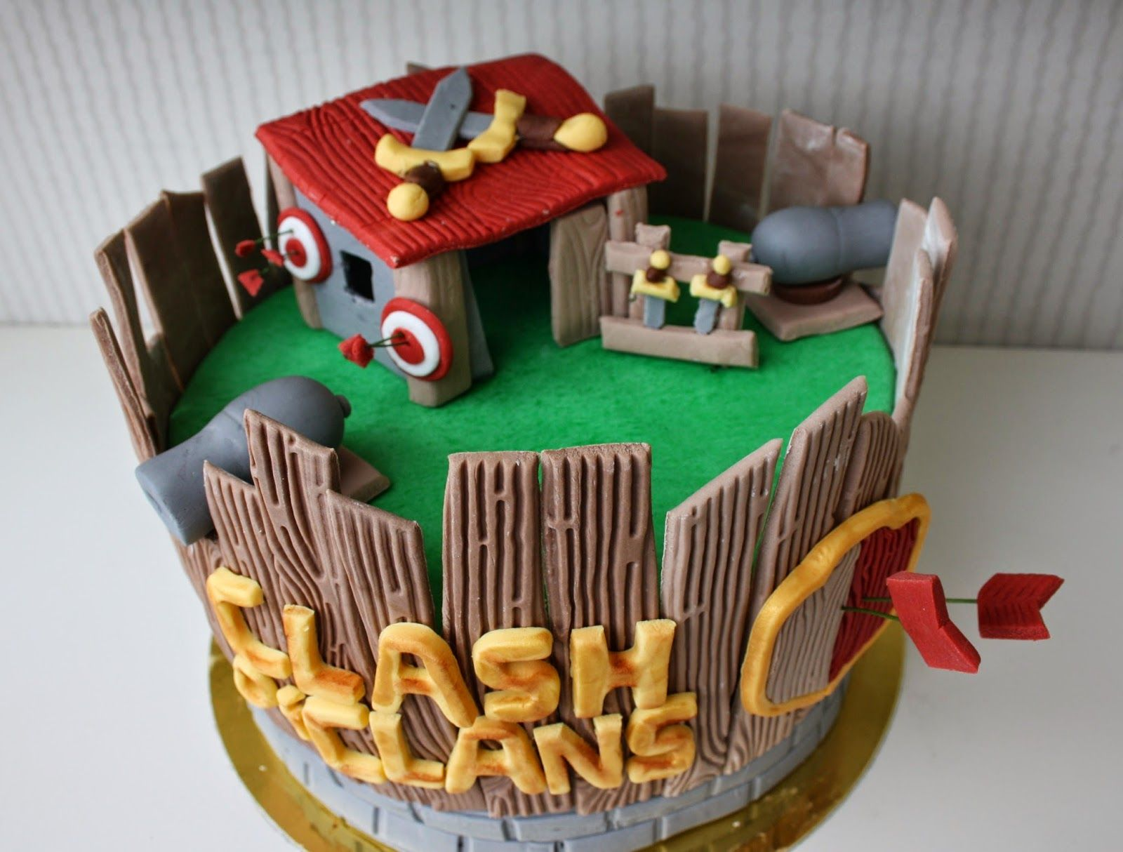 Clash Of Clans Full Base Cake Google Search Themed Birthday