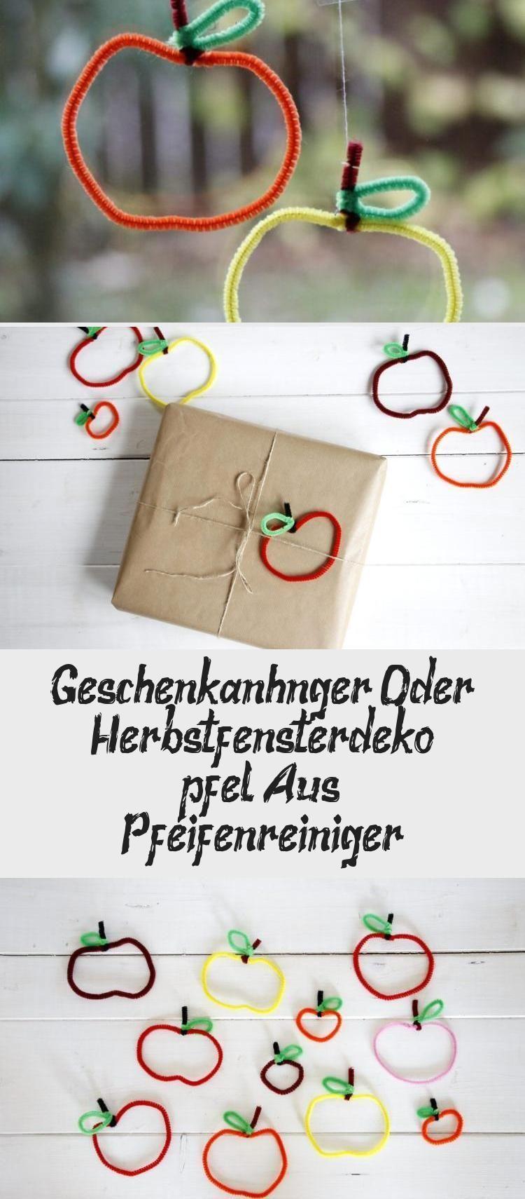Geschenkanhänger Oder Herbst-fensterdeko: Äpfel Aus Pfeifenreiniger #herbstdekofensterkinder Äpfel aus Pfeifenreiniger sind eine kreative Herbst Fensterdeko. Die Pfeifenreiniger Bastelidee eignet sich auch als Bastelidee für Kinder. Die Herbstdeko basteln lohnt sich. Mit den Pfeifenreiniger Äpfel kann man nicht nur die Fenster herbstlich schmücken, sondern man kann sie auch als Geschenkanhänger oder Strauch Anhänger verwenden. #dekorationHerbstDIY #dekorationHerbstHolz #dekorationHerbstT #herbstdekofensterkinder