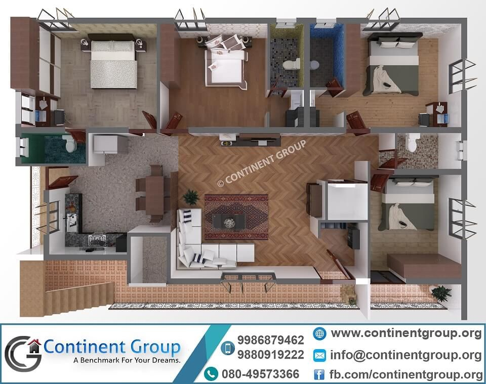 40x60 Home Plan 3d Floor Plan Small House Design Plans Building Front Designs Small House Elevation Design