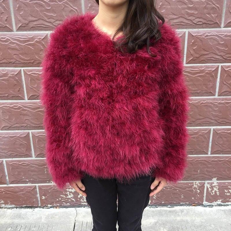 31edfa563eb Jancoco Max S1002 Women 2018 Real Fur Coat Genuine Ostrich Feather Fur  Winter Jacket Retail / Wholesale Top Quality