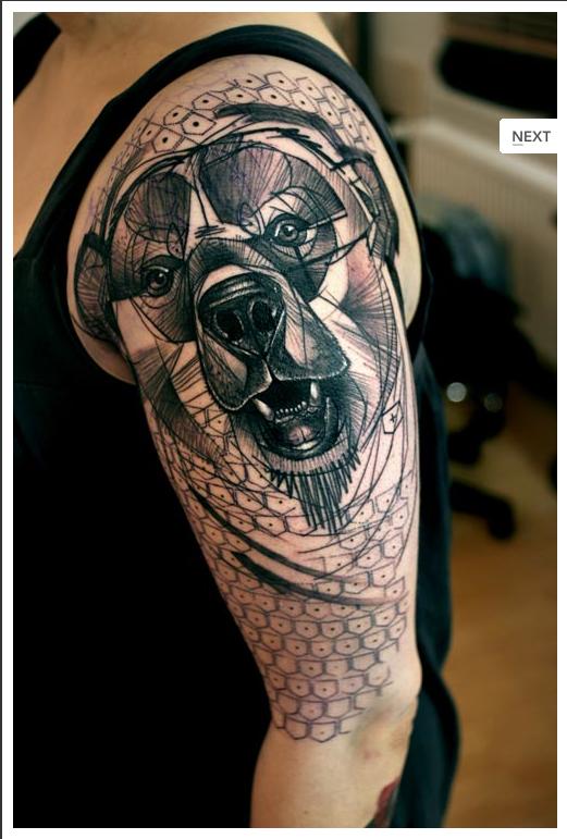 2 × 4: Wall: Line Tattoos