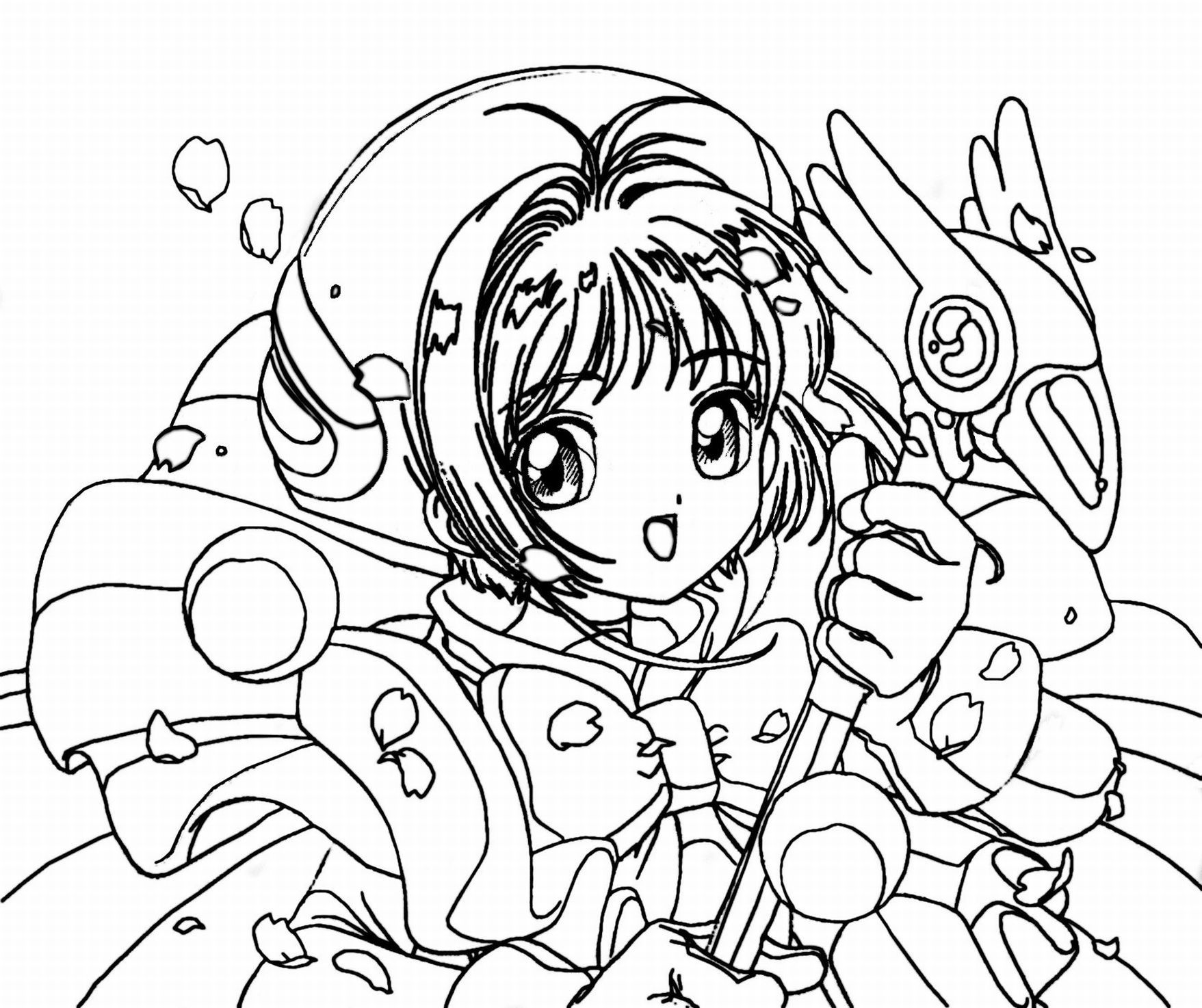 Cute Anime Coloring Pages Printables Colouring Sheets - anime coloring pages