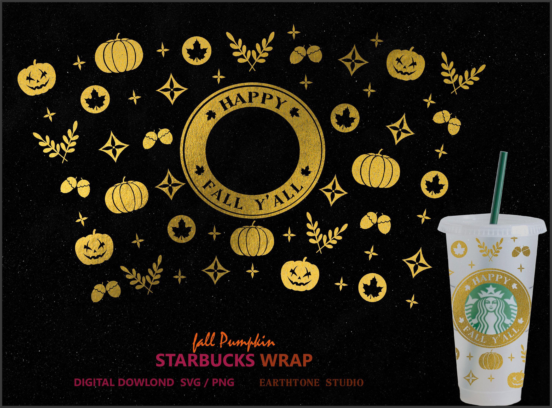 Happy Fall Y All Fall Pumpkin Halloween Theme Full Wrap Etsy In 2020 Halloween Pumpkins Happy Fall Fall Pumpkins