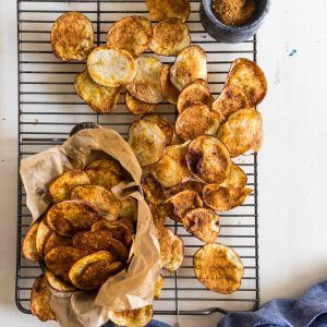 Baked Potato Chips with Chinese BBQ Spice Mix