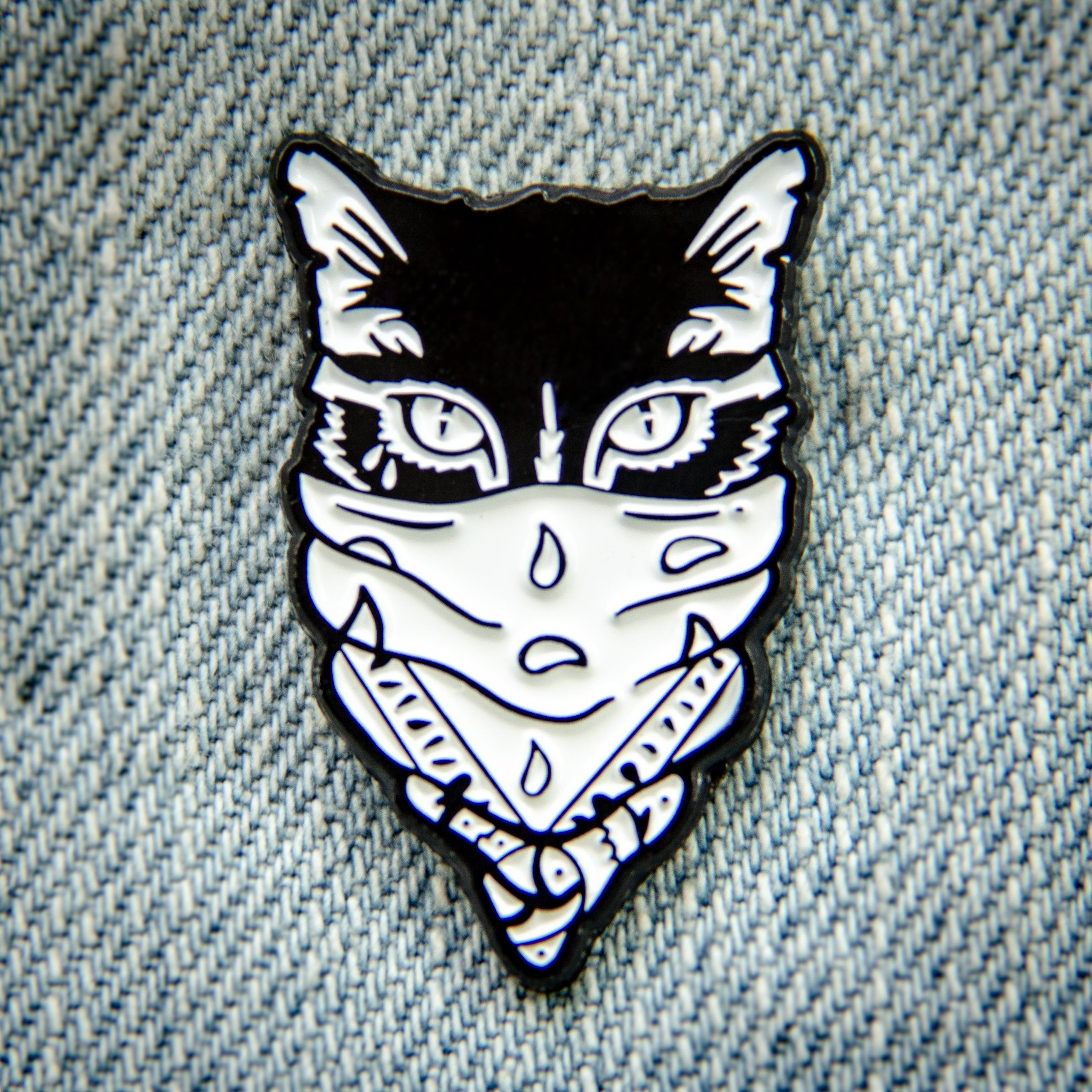 Pin By My Info On Products You Tagged Cat Enamel Pin Cat Tattoo Bandana Tattoo