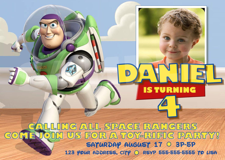 Buzz Lightyear Printable Invitation Toy Story Invitations Toy Story Birthday Toy Story Party