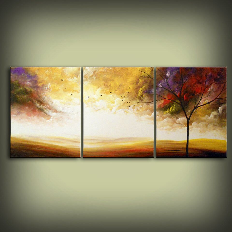 Original abstract landscape painting HUGE 48\