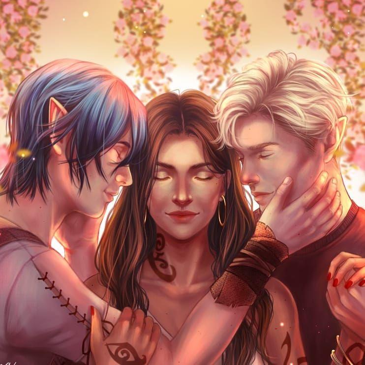 Christina, Kerian and Mark character art