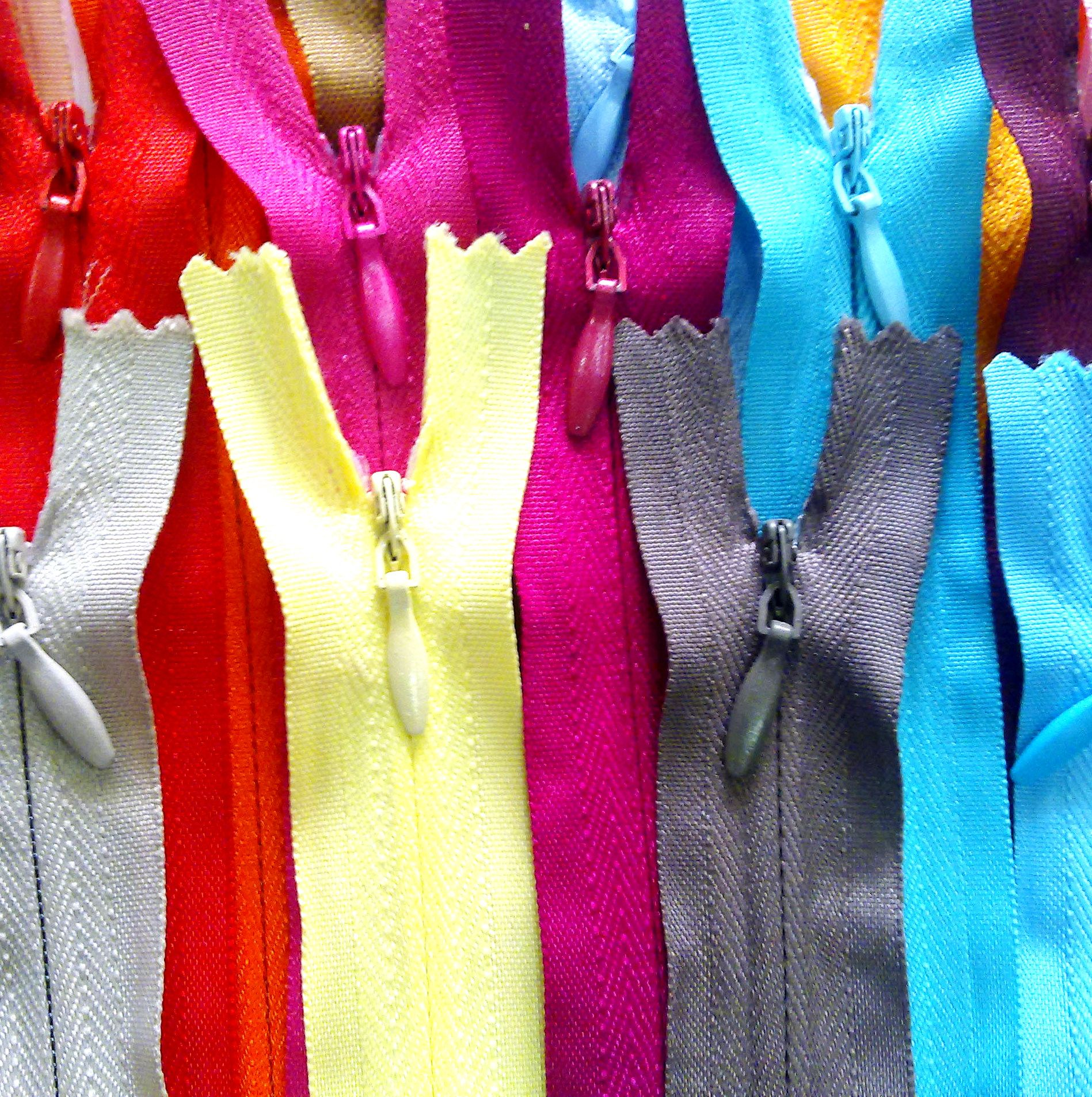 Zippers.. Available in Many Sizes and Colors...