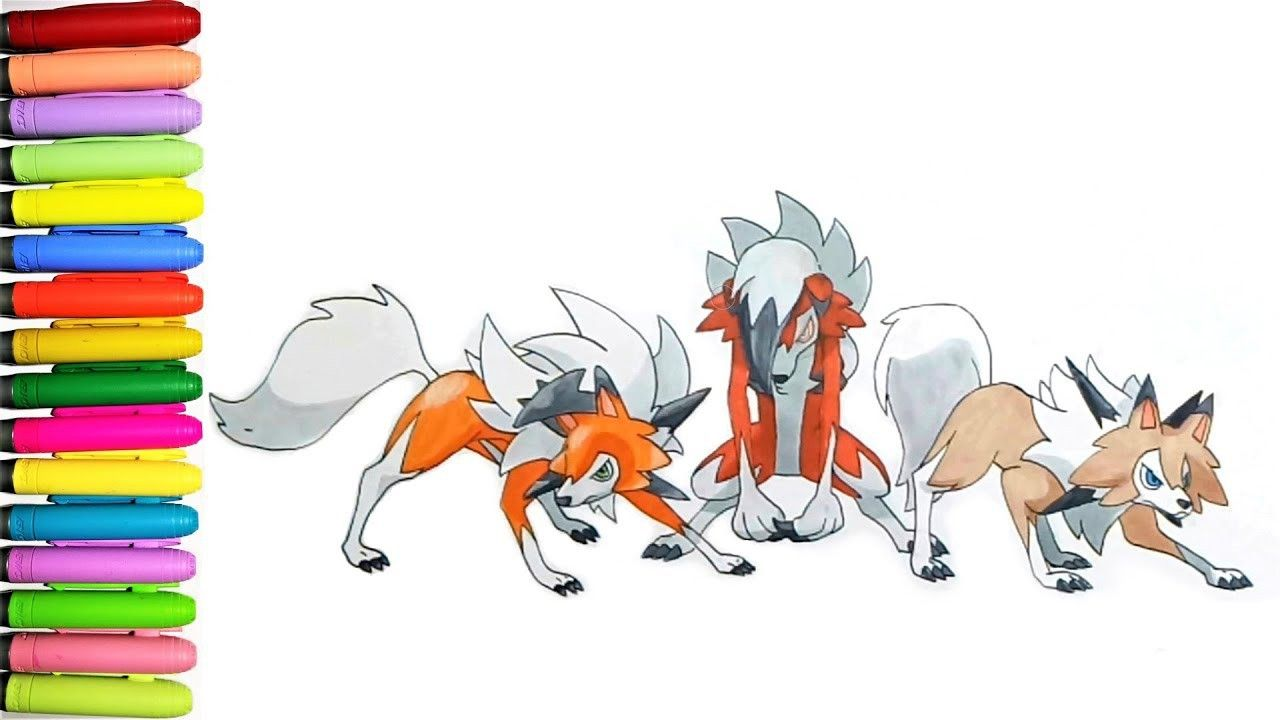 Pokemon Coloring Pages Lycanroc Pokemon Coloring Pages Cartoon