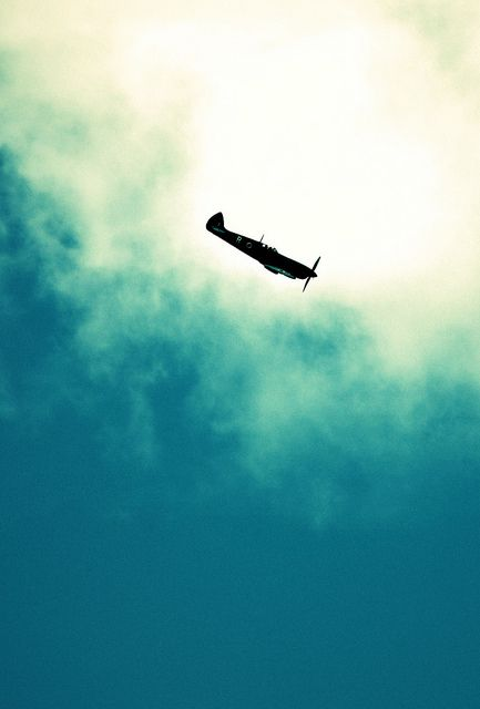 Spitfire In Cloud by Paolo Camera, via Flickr