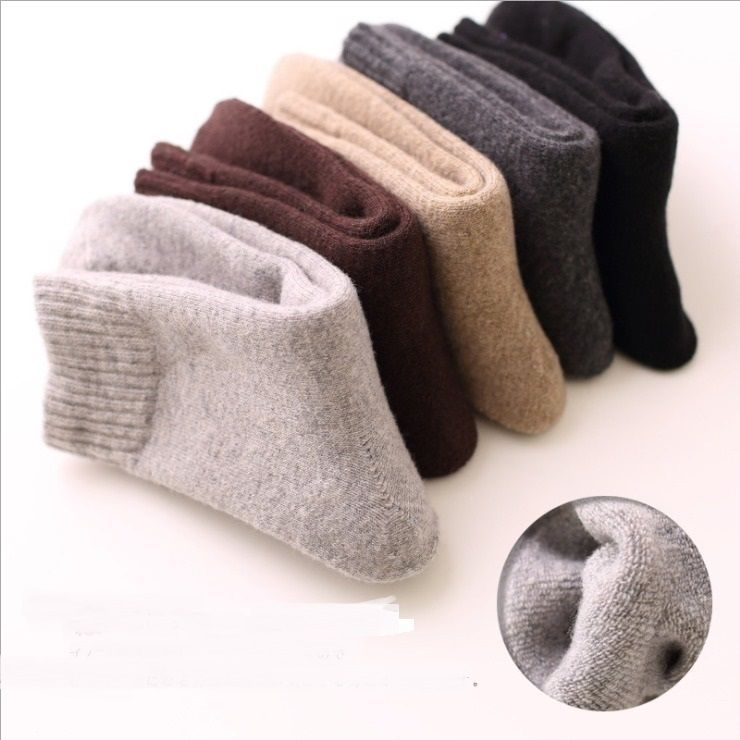 """""""Peaceful Winter"""" 5 Pairs Unisex Socks Wool Cozy Fuzzy Warm Socks Casual Sox #Unbranded #Casual"""