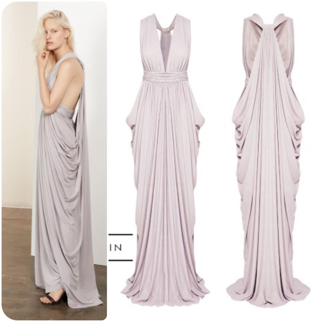Sheike fairy tale maxi dress in lilac