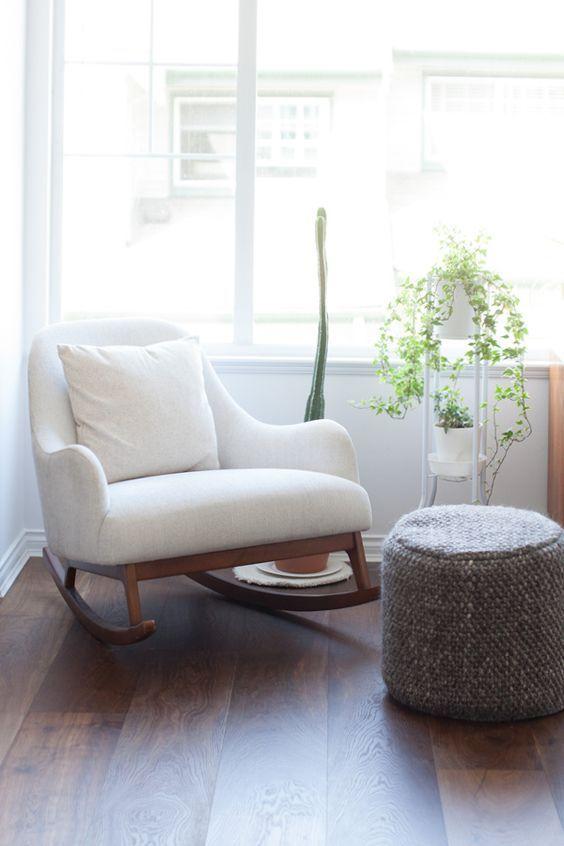 Living Room Decor Ideas Home Decor Interior Design White Rocking Chairs Rocking Chair Nursery Modern Rocking Chair