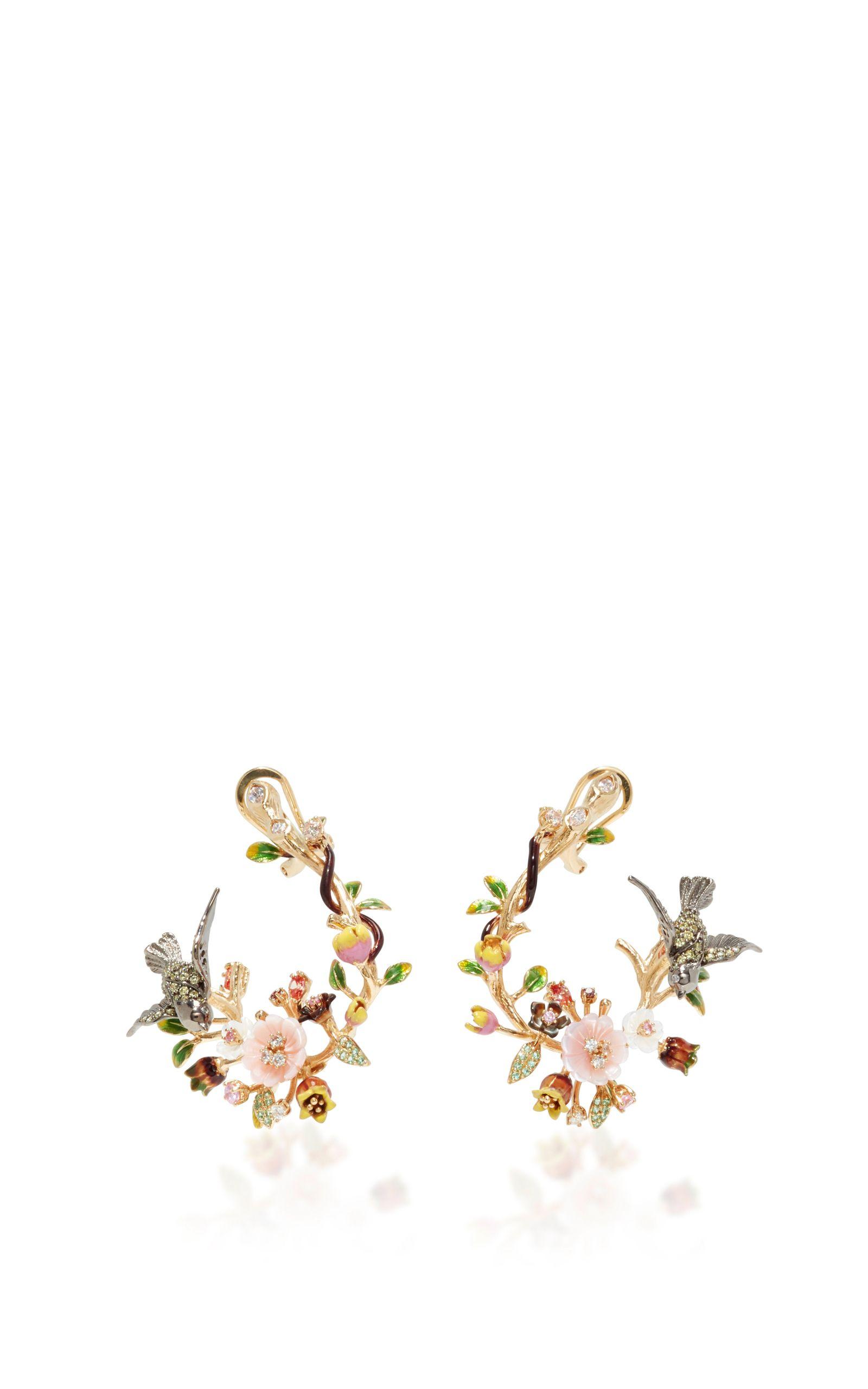Swallow Garland Earrings by ANABELA CHAN Now Available on Moda Operandi