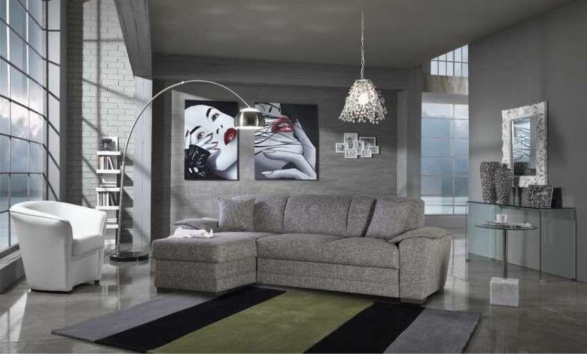 Parete Dietro Divano Grigio : Come arredare il soggiorno con il grigio come arredare casa con