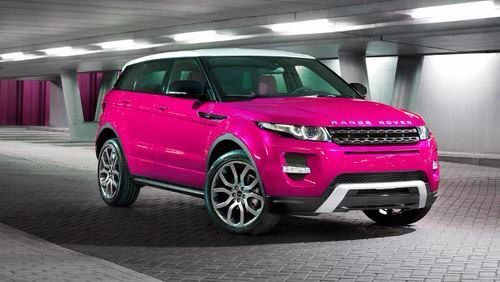 Range Rover Evoque, in Princess pink. I need dis...... #pinkrangerovers Range Rover Evoque, in Princess pink. I need dis...... #pinkrangerovers