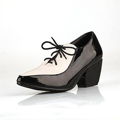 Patent Leather Chunky Heel Pumps Heels with Split Joint Shoes(More Colors) – EUR € 24.74