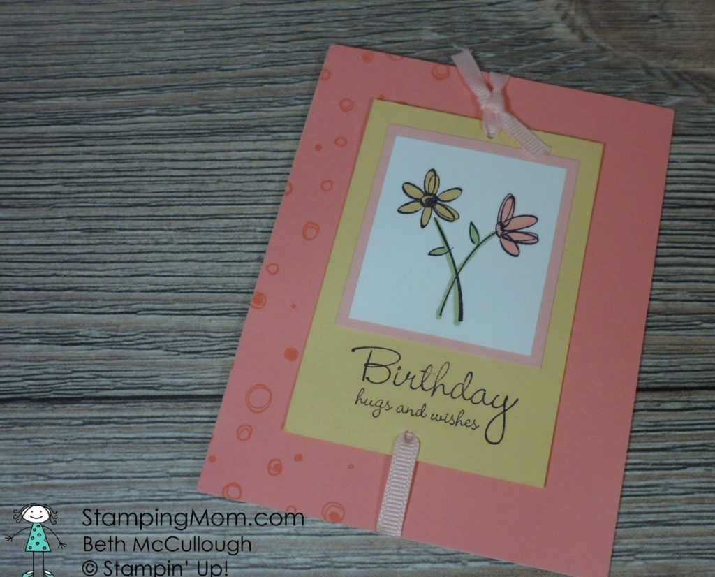 Stampinup birthday card received from my friend debbie gorman