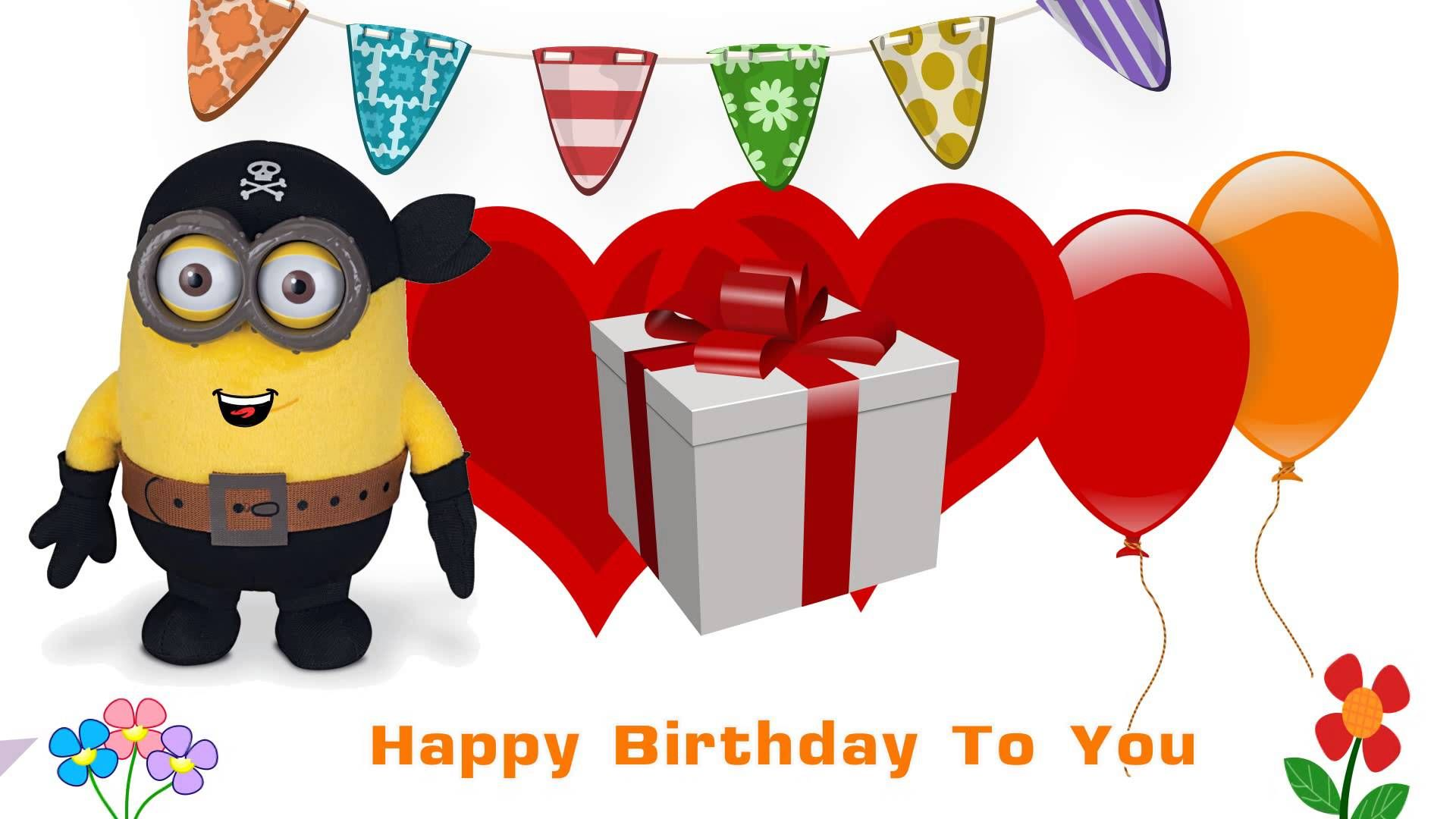 Happy Birthday Songs Martie Minion (With images) Minions