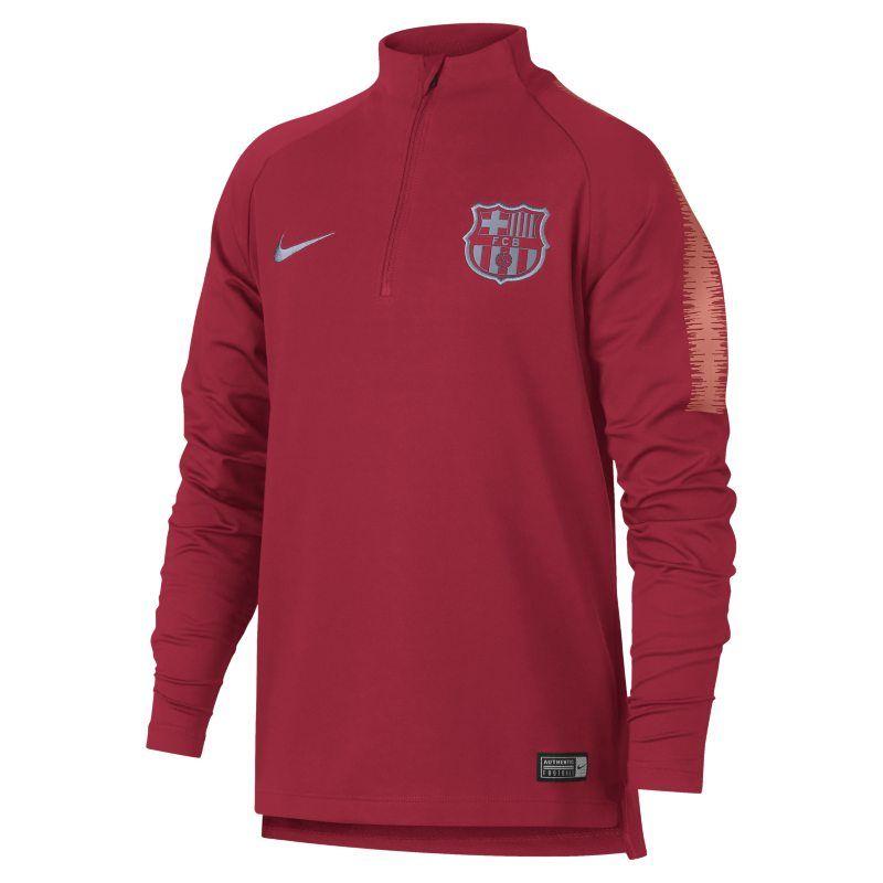 0b1b368d0a41 FC Barcelona Dri-FIT Squad Drill Older Kids Long-Sleeve Football Top - Pink