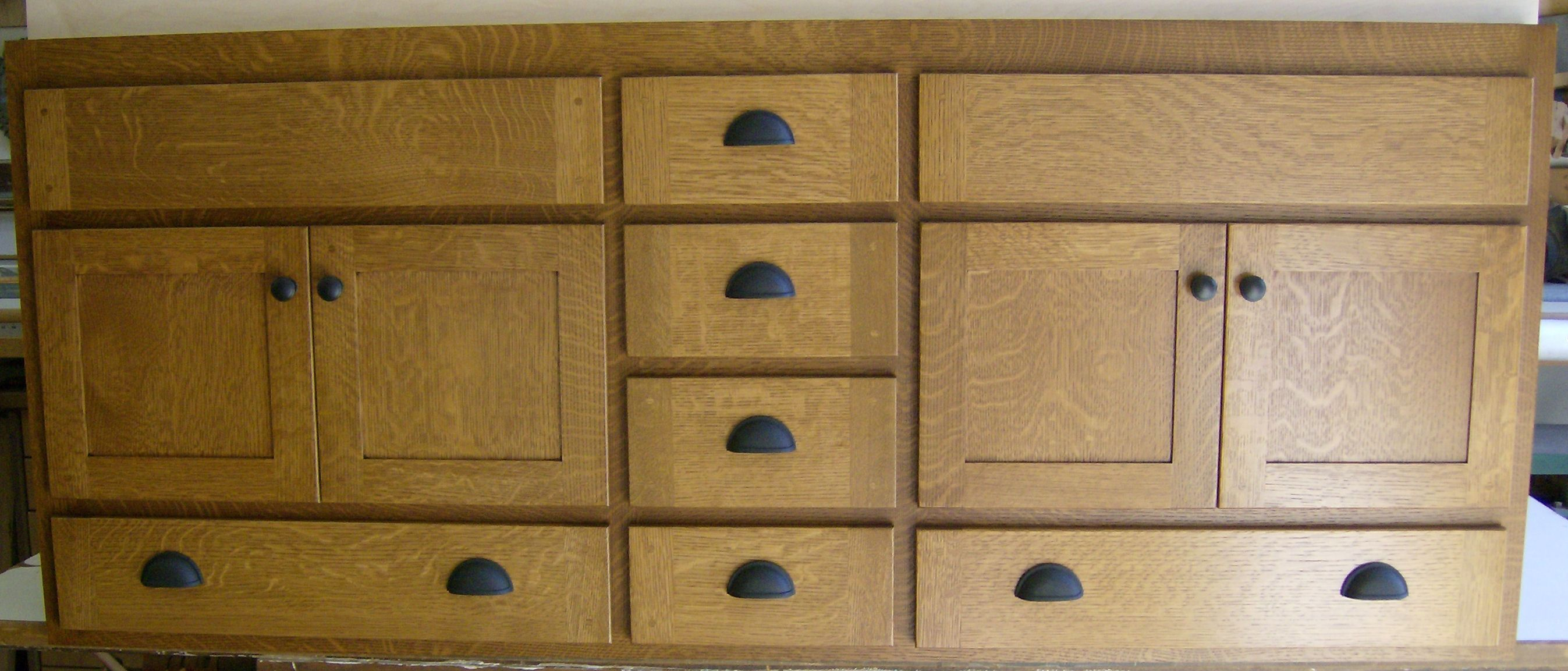 Built In Cabinets Of Oak Work Authentic Craftsman Mission Style