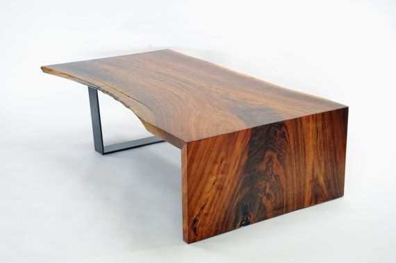 live edge table walnut coffee table walnuss couchtische und tisch. Black Bedroom Furniture Sets. Home Design Ideas
