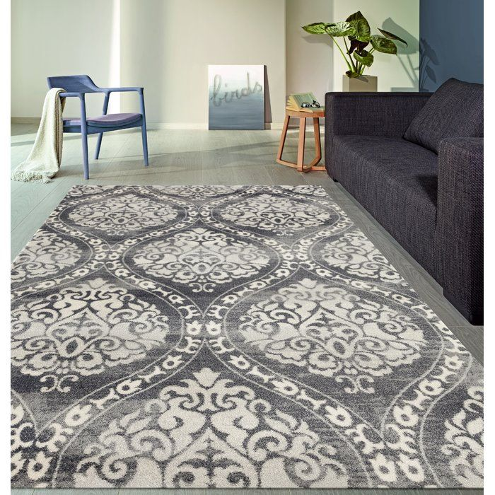 Demonte Floral Silver/Gray Area Rug Area rugs, Rugs