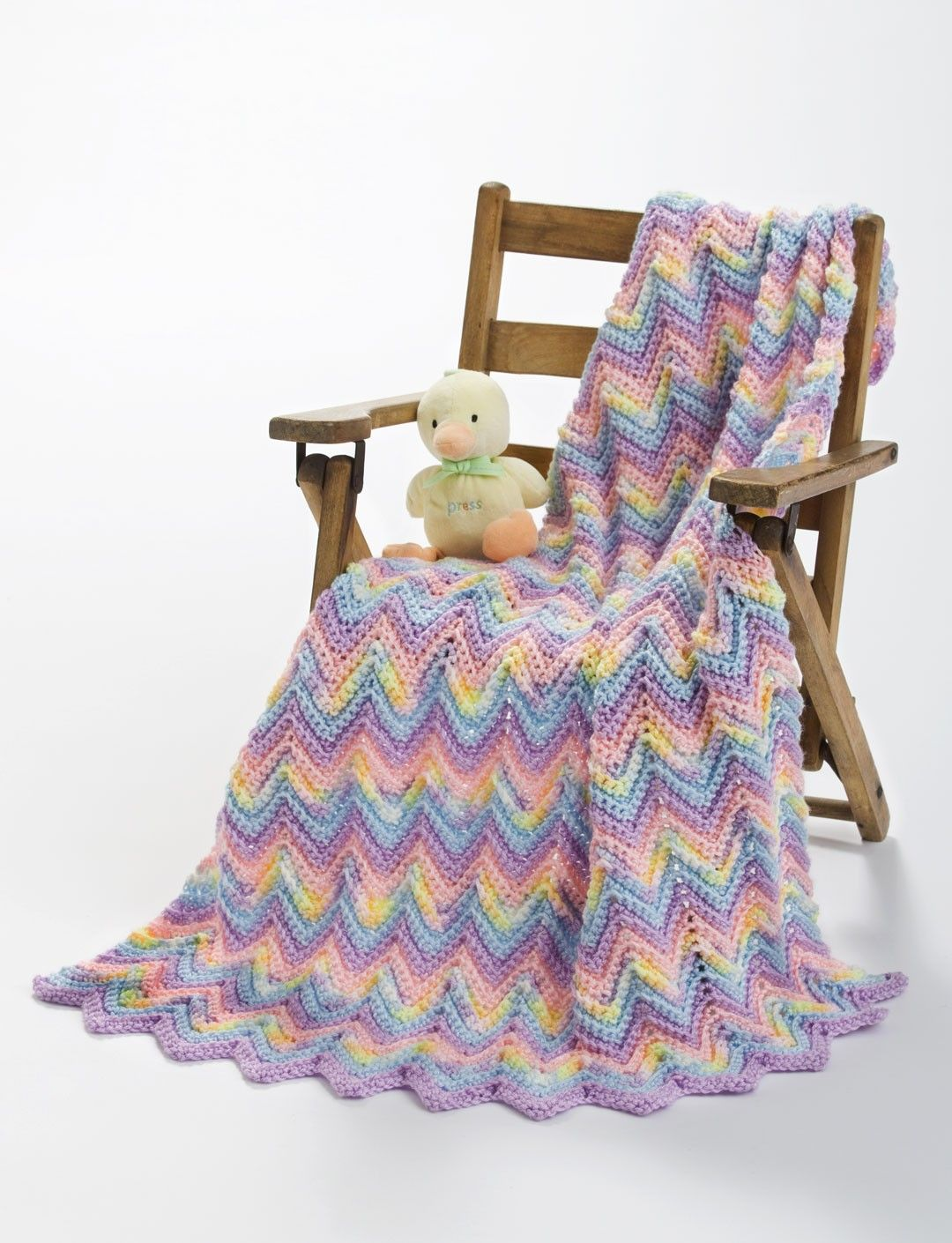 This sweet ripple crochet Pastel Baby Blanket is perfect! | Crochet ...