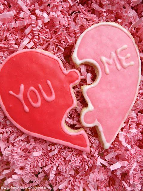 Shopgirl: San Valentín Rompecabezas del Corazón Día Galletas