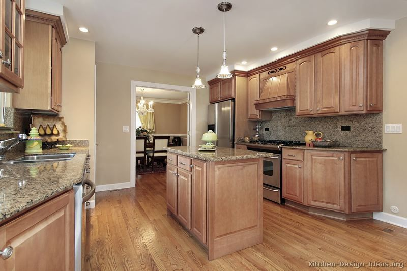 Wood Kitchen Cabinets With Wood Floors Pictures Of Kitchens Traditional Light  Wood Kitchen Cabinets