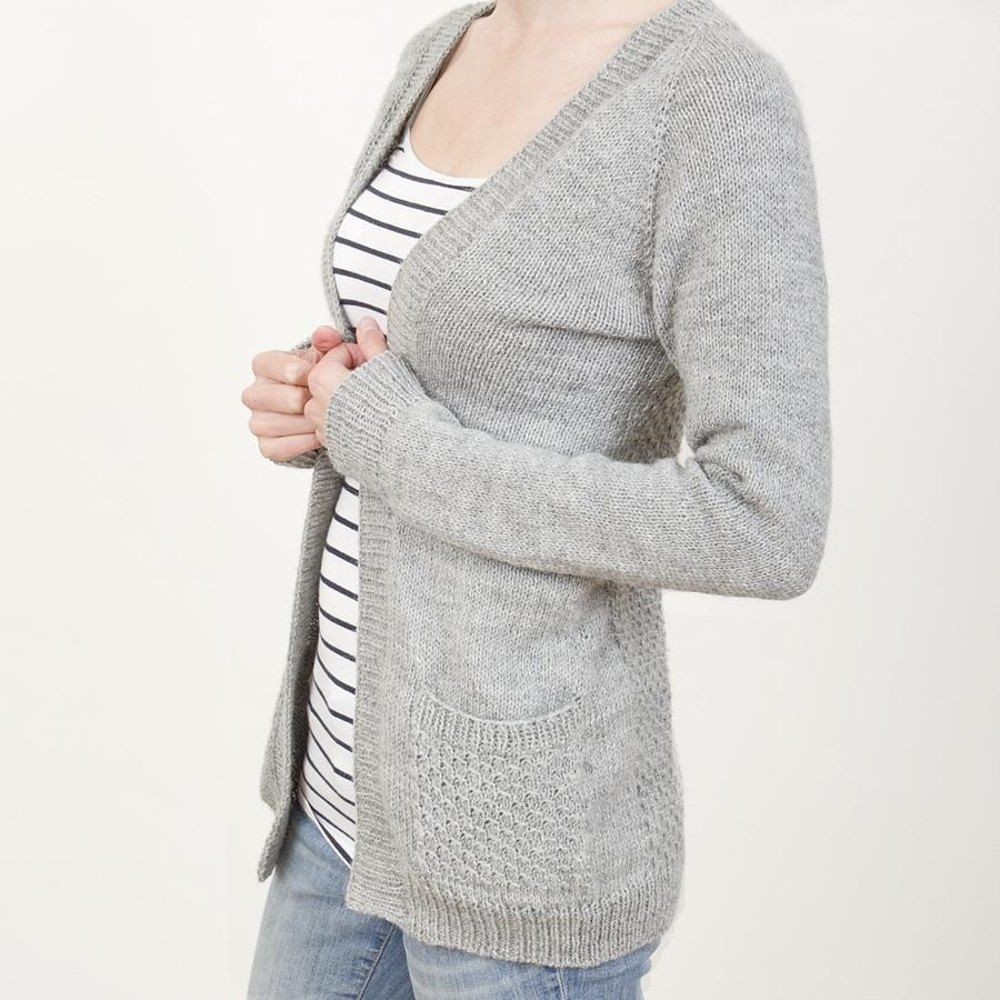 Greystone | Open front cardigan, Knitting patterns and Stitch