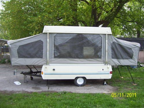 Coleman Pop Up Camper Went Camping Several Times In One Just Like