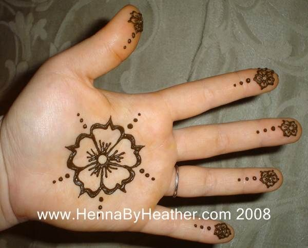 Mehndi Flower Designs For Hands : Simple henna by heather 2007 season photos 113