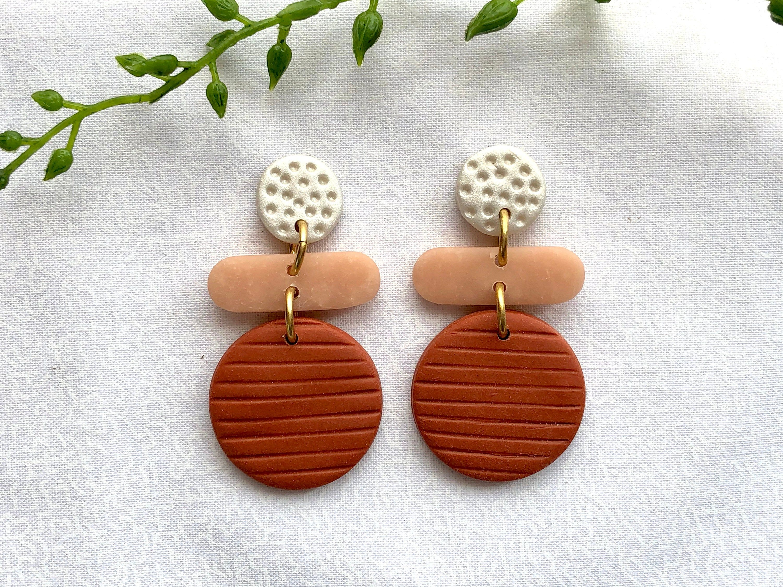 Wire Wrapped Earrings Polka Dot Earrings Artisan Enamel Earrings Colorful Flower Earrings Funky Whimsical Jewelry Bold Modern,