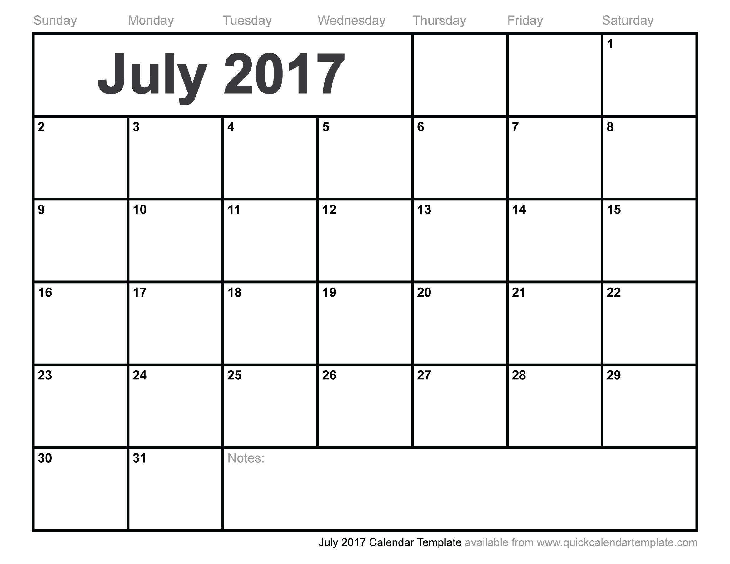 july calendar http://calendarprintablehub.com/july-2017-calendar ...