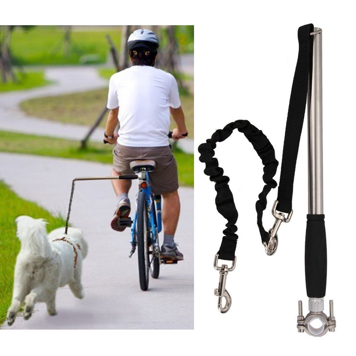 Dog Bicycle Exerciser Leash Fmji Hands Free Bicycle Dog Leash For