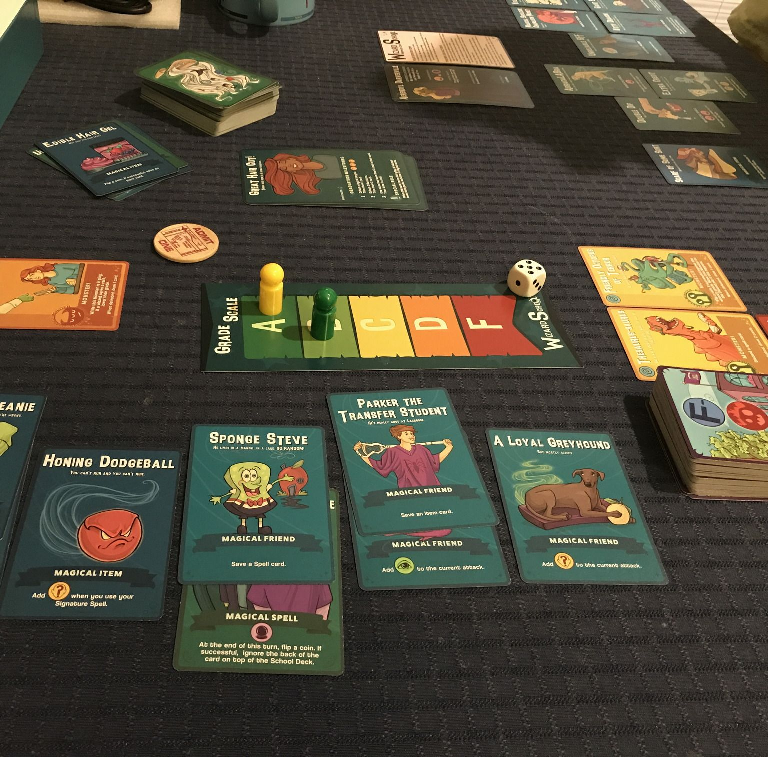 """Wizard School"". A nicely themed card game where you try"