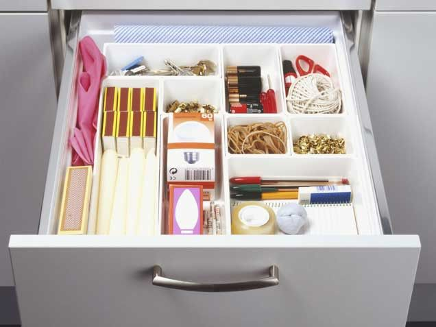 Emergency drawer, what a great idea!!! You never know when the power may go out. Matches should be in plastic bags, though, for water protection.